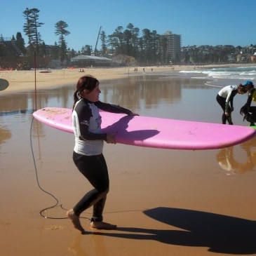 Surfing in Manly Beach